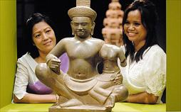 Kambodschas weibliches Gesicht