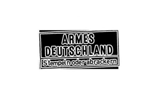 Armes Deutschland - Stempeln oder abrackern?   Das Krawall-Pärchen und der Kämpfer